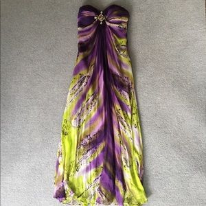 Purple Morell Maxie Floor Lgth Gown, 8